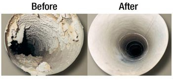 Dryer Vent Before After